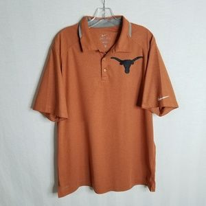 Nike Dri Fit UT Texas Longhorns Mens Polo Shirt